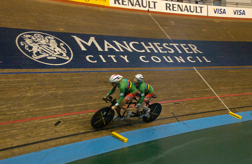 Photo: Richard Lane..VISA Paralympic World Cup 2007. Track Cycling. 11/05/2007.