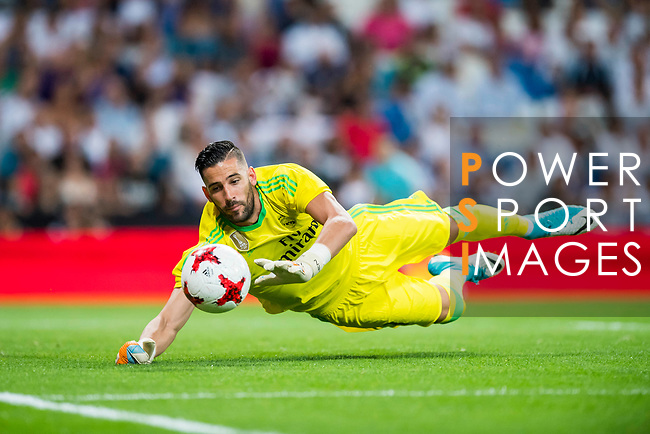 Goalkeeper Francisco Casilla Cortes, Kiko Casilla, of Real Madrid in action during the Santiago Bernabeu Trophy 2017 match between Real Madrid and ACF Fiorentina at the Santiago Bernabeu Stadium on 23 August 2017 in Madrid, Spain. Photo by Diego Gonzalez / Power Sport Images