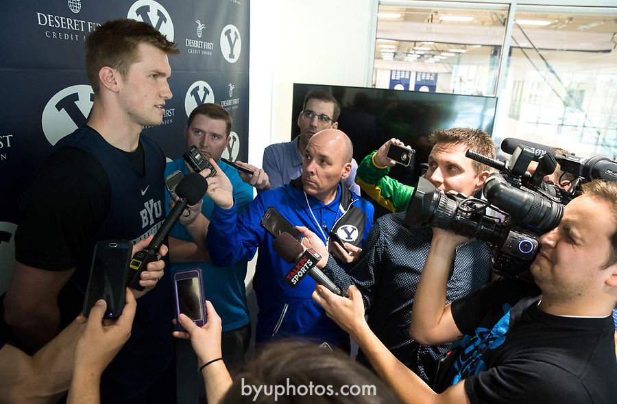 16-17mBKB Eric Mika Press Conf 039<br /> <br /> 16-17mBKB Eric Mika Press Conference<br /> <br /> BYU Basketball's Eric Mika holds a press conference to announce that he will declare for the NBA draft.<br /> <br /> March 22, 2017<br /> <br /> Photo by Jaren Wilkey/BYU<br /> <br /> &copy; BYU PHOTO 2017<br /> All Rights Reserved<br /> photo@byu.edu  (801)422-7322