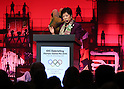 November 28, 2016, Tokyo, Japan - Tokyo Governor Yuriko Koike delivers a speech at the opening session of IOC's debriefing meeting of Rio de Janeiro Olympic Games in Tokyo on Monday, November 28, 2016. Tokyo2020 Olympic Committee president Yoshiro Mori also attended the meeting..   (Photo by Yoshio Tsunoda/AFLO) LWX -ytd-