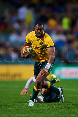 06.09.2014. Perth, Australia.  Tevita Kuridrani of the Wallabies in action during the The Rugby Championship match between Australia and South Africa. Patersons Stadium, Perth, Western Australia.