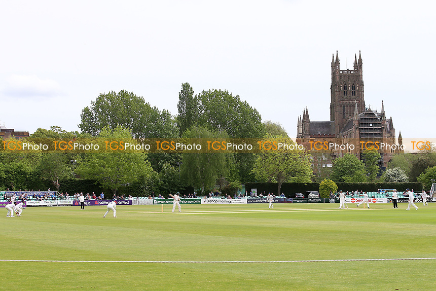 General view looking towards the Cathedral during Worcestershire CCC vs Essex CCC, Specsavers County Championship Division 1 Cricket at Blackfinch New Road on 12th May 2018