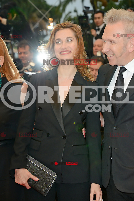 """Emmanuelle Devos and Jean Paul Gaultier attending the """"Amour"""" Premiere during the 65th annual International Cannes Film Festival in Cannes, France, 20th May 2012..Credit: Timm/face to face /MediaPunch Inc. ***FOR USA ONLY***"""
