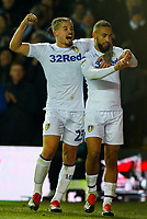Leeds United's Kemar Roofe celebrates scoring the opening goal with Kalvin Phillips<br /> <br /> Photographer Alex Dodd/CameraSport<br /> <br /> The EFL Sky Bet Championship - Leeds United v Bristol City - Saturday 24th November 2018 - Elland Road - Leeds<br /> <br /> World Copyright &copy; 2018 CameraSport. All rights reserved. 43 Linden Ave. Countesthorpe. Leicester. England. LE8 5PG - Tel: +44 (0) 116 277 4147 - admin@camerasport.com - www.camerasport.com