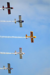 Members of Team RV fly in formation during the Rotary festival Saturday at the Lycoming County Fairgrounds.