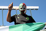 15 July 2015: A Mexico fan. The Mexico Men's National Team played the Trinidad & Tobago Men's National Team at Bank of America Stadium in Charlotte, NC in a 2015 CONCACAF Gold Cup Group C match. The game ended in a 4-4 tie.