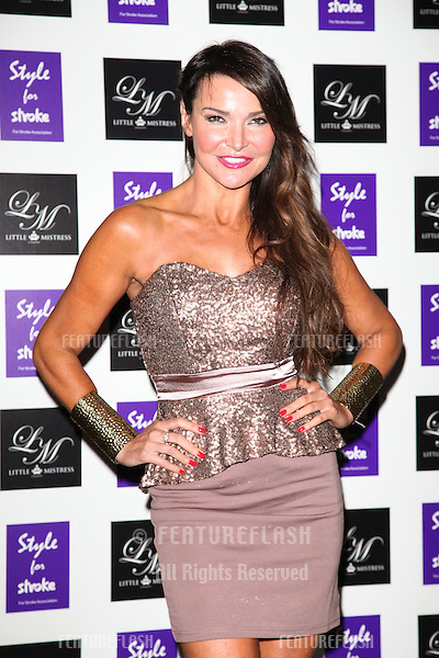 Lizzie Cundy arriving for the Style for Stroke Party, 5 Cavendish Square, London. 02/10/2012 Picture by: Alexandra Glen / Featureflash