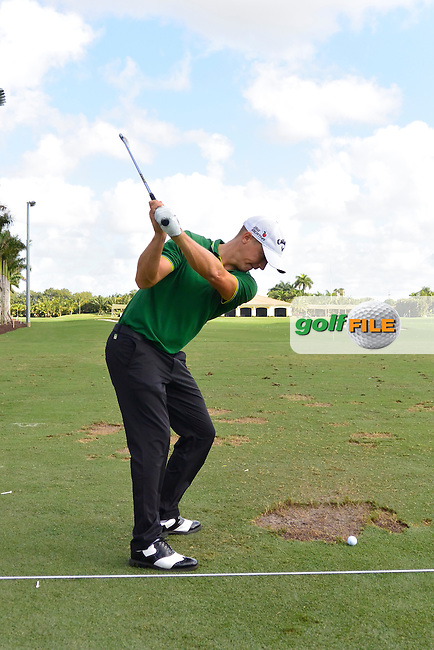 Alex Noren (SWE) during the practice round at the WGC Cadillac Championship, Blue Monster, Trump National Doral, Doral, Florida, USA<br /> Picture: Fran Caffrey / Golffile