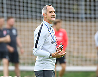 Trainer Adi Hütter (Eintracht Frankfurt) - 28.08.2018: Eintracht Frankfurt Training, Commerzbank Arena, DISCLAIMER: DFL regulations prohibit any use of photographs as image sequences and/or quasi-video.