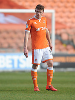 Blackpool's Matthew Virtue<br /> <br /> Photographer Kevin Barnes/CameraSport<br /> <br /> The EFL Sky Bet League One - Blackpool v Plymouth Argyle - Saturday 30th March 2019 - Bloomfield Road - Blackpool<br /> <br /> World Copyright © 2019 CameraSport. All rights reserved. 43 Linden Ave. Countesthorpe. Leicester. England. LE8 5PG - Tel: +44 (0) 116 277 4147 - admin@camerasport.com - www.camerasport.com