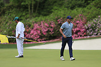 Brooks Koepka (USA) on the 13th green during the final round at the The Masters , Augusta National, Augusta, Georgia, USA. 14/04/2019.<br /> Picture Fran Caffrey / Golffile.ie<br /> <br /> All photo usage must carry mandatory copyright credit (© Golffile | Fran Caffrey)