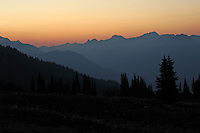 Dawn approaches over the Purcell Mountains of Southeastern BC. Meadow Creek.
