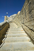 Steps leading up to the  Citadel in Victoria (also known as Rabat) on the maltese Island of Gozo