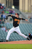 Rochester Red Wings pitcher Andrew Albers #37 during a game against the Durham Bulls on May 17, 2013 at Frontier Field in Rochester, New York.  Rochester defeated Durham 11-6.  (Mike Janes/Four Seam Images)