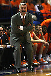 23 December 2008:    Illini head coach Bruce Weber yells to his players during the first half.  The University of Missouri and the University of Illinois competed in the annual Busch Braggin' Rights basketball game at the Scottrade Center in downtown St. Louis, Missouri on Tuesday December 23, 2008...
