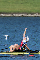 Sarasota. Florida USA.SUI W1X, Jeannine GMELIN, celebrates winning the final. Sunday Final's Day at the  2017 World Rowing Championships, Nathan Benderson Park<br /> <br /> Sunday  01.10.17   <br /> <br /> [Mandatory Credit. Peter SPURRIER/Intersport Images].<br /> <br /> <br /> NIKON CORPORATION -  NIKON D500  lens  VR 500mm f/4G IF-ED mm. 200 ISO 1/1250/sec. f 5.6