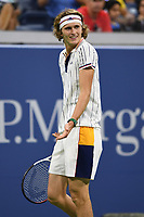 FLUSHING NY- AUGUST 30: Alexander Zverev Vs Borna Coric on Grandstand Stadium during the US Open at the USTA Billie Jean King National Tennis Center on August 30, 2017 in Flushing Queens. Credit: mpi04/MediaPunch ***NO NY DAILIES***