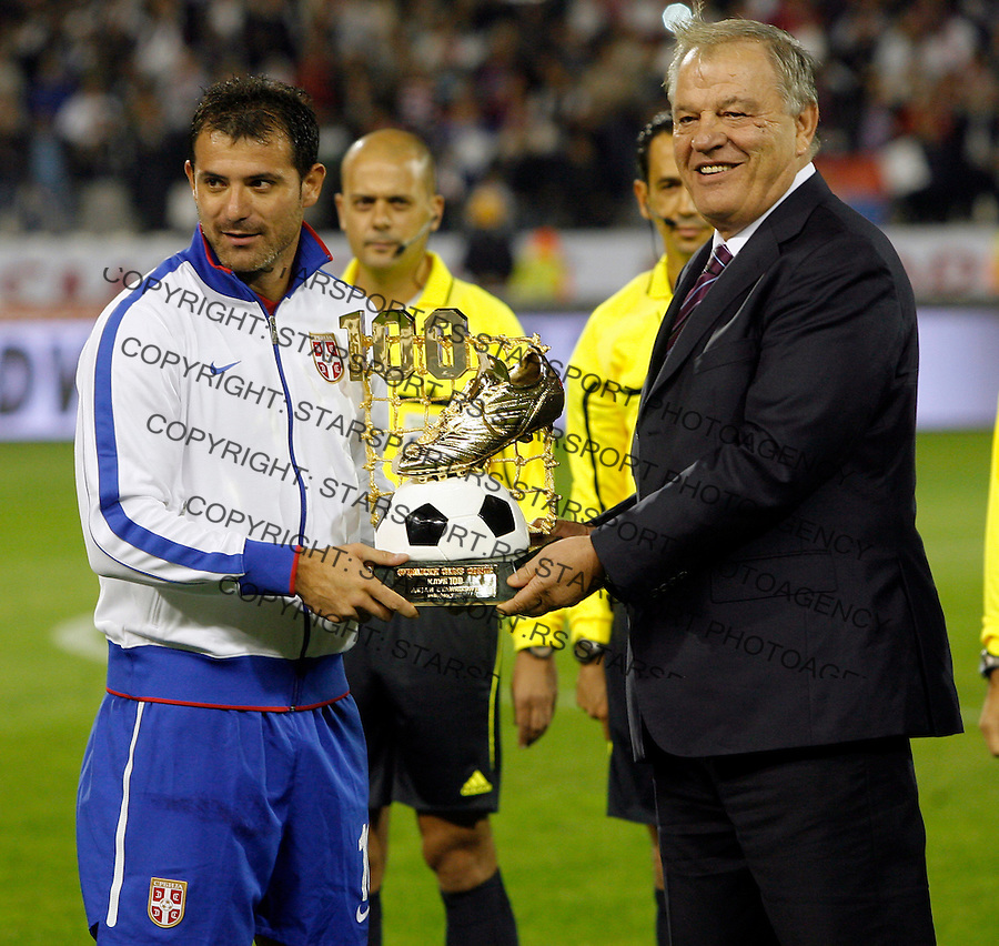 Serbian national football team player Dejan Stankovic during group C UEFA EURO 2012 qualifying match Serbia vs Italy in Belgrade, Serbia, Friday, October 07, 2011. (photo: Pedja Milosavljevic)