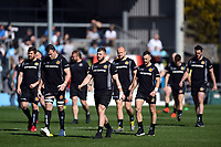 Exeter Chiefs players look on prior to the match. Gallagher Premiership match, between Exeter Chiefs and Bath Rugby on March 24, 2019 at Sandy Park in Exeter, England. Photo by: Patrick Khachfe / Onside Images