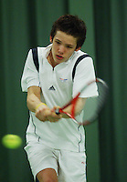 10-3-06, Netherlands, tennis, Rotterdam, National indoor junior tennis championchips, Ivo Noorlander