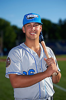 Hudson Valley Renegades first baseman Nathaniel Lowe (36) poses for a photo before a game against the Batavia Muckdogs on August 1, 2016 at Dwyer Stadium in Batavia, New York.  Hudson Valley defeated Batavia 5-1.  (Mike Janes/Four Seam Images)