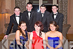 BALL: Enjoying the North Kerry Harries Hunt Ball at the Ballygarry House hotel and Spa on Friday seated l-r: Hayley Doyle, Hilary Costello and Amy Doran. Back l-r: Aaron Reid, Killian Costello, Darragh Daly and Oscar Vial...