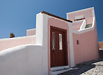 Pastel Pink building in Oia, Santorini