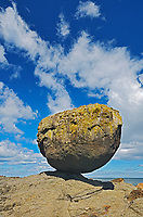 Balance Rock. Skidegate. Graham Island. , Haida Gwaii (formerly the Queen Charlotte Islands), British Columbia, Canada