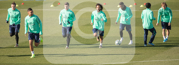 Real Madrid's Bale, Casemiro, Jovic, Marcelo, Modric and Vinicius Jr. during training session. <br /> November 25 ,2019.<br /> (ALTERPHOTOS/David Jar)