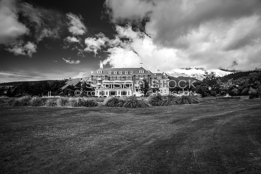 The Chateau, Tongariro National Park, New Zealand - stock photo, canvas, fine art print
