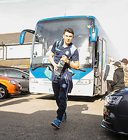 Luke O'Nien of Wycombe Wanderers arrives ahead of the Sky Bet League 2 match between Grimsby Town and Wycombe Wanderers at Blundell Park, Cleethorpes, England on 4 March 2017. Photo by Andy Rowland / PRiME Media Images.