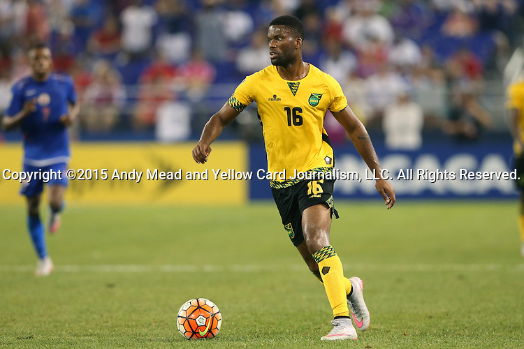 18 July 2015: Joel Grant (JAM). The Jamaica Men's National Team played the Haiti Men's National Team at M&T Bank Stadium in Baltimore, Maryland in a 2015 CONCACAF Gold Cup quarterfinal match. Jamaica won the game 1-0.