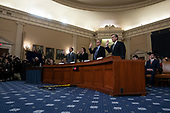 Constitutional law experts Noah Feldman, of Harvard University, Pamela Karlan, of Stanford University, Michael Gerhardt, of the University of North Carolina, and Jonathan Turley of The George Washington University Law School, are sworn in before the United States House Committee on the Judiciary on Capitol Hill in Washington D.C., U.S. on Wednesday, December 4, 2019.<br /> <br /> Credit: Stefani Reynolds / CNP