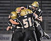 Wantagh teammates celebrate after a 29-yard rushing touchdown by Gavin Casey #32 in the first quarter of the Nassau County varsity football Conference III final against Roosevelt at Hofstra University on Friday, Nov. 18, 2016. Wantagh went to halftime leading 7-0.