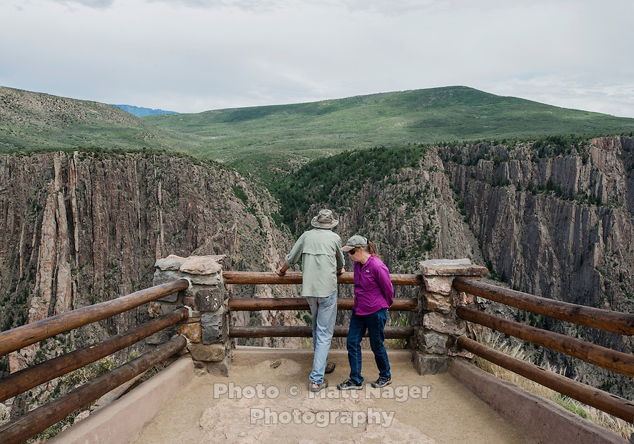 Black Canyon of the Gunnison National Park near Gunnison, Colorado, Tuesday, July 7, 2015. <br /> <br /> Photo by Matt Nager