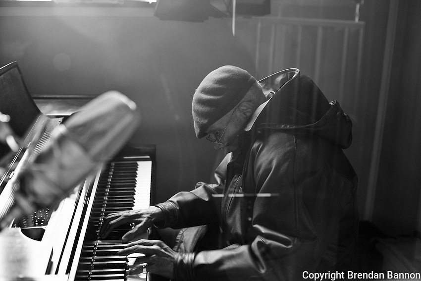 85 year old pianist Boyd Lee Dunlop recording his 1st CD in Feb of 2011. The piano player sat down to the piano without  taking  his jacket off the moment he came. He later explained he'd been working out a composition in his head and wanted to get  started as quickly as possible.