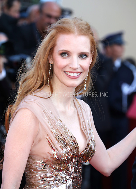 "WWW.ACEPIXS.COM . . . . .  ..... . . . . US SALES ONLY . . . . .....May 18 2012, Cannes....Jessica Chastain at the premiere of ""Lawless"" at the Cannes Film Festival on May 18 2012 in France ....Please byline: FAMOUS-ACE PICTURES... . . . .  ....Ace Pictures, Inc:  ..Tel: (212) 243-8787..e-mail: info@acepixs.com..web: http://www.acepixs.com"