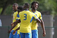 dChidubem Onokwai of Haringey scores and celebrates uring Haringey Borough vs Corinthian Casuals, BetVictor League Premier Division Football at Coles Park Stadium on 10th August 2019