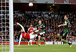 Arsenal's Olivier Giroud fires in an overhead kick during the Carabao cup match at the Emirates Stadium, London. Picture date 20th September 2017. Picture credit should read: David Klein/Sportimage