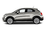 Car Driver side profile view of a 2017 Fiat 500X Lounge 5 Door SUV Side View