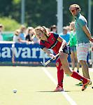 NIJMEGEN - Mascha Heemskerk (Huizen) tijdens  de tweede play-off wedstrijd dames, Nijmegen-Huizen (1-4), voor promotie naar de hoofdklasse.. Huizen promoveert naar de hoofdklasse.  COPYRIGHT KOEN SUYK