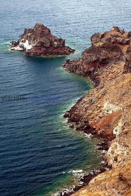 Coastline of Imerovigli, Santorini, Greece
