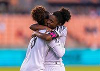 HOUSTON, TX - JANUARY 28: Katherine Castillo #8 of Panama celebrates her goal during a game between Costa Rica and Panama at BBVA Stadium on January 28, 2020 in Houston, Texas.