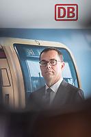 Alexander Kaczmarek, Konzernbevollmaechtigter der DB AG und Peter Buchner (im Bild), Vorsitzender der Geschaeftsfuehrung der S-Bahn stellten am Mittwoch den 18. Juli 2018 die Qualitaetsoffensive der S-Bahn Berlin vor.<br /> Es sollen mehr als 30 Millionen Euro investiert werden um die Infrastruktur zu modernisieren und zusaetzliche Fahrzeugfuehrer ausgebildet werden.<br /> 18.7.2018, Berlin<br /> Copyright: Christian-Ditsch.de<br /> [Inhaltsveraendernde Manipulation des Fotos nur nach ausdruecklicher Genehmigung des Fotografen. Vereinbarungen ueber Abtretung von Persoenlichkeitsrechten/Model Release der abgebildeten Person/Personen liegen nicht vor. NO MODEL RELEASE! Nur fuer Redaktionelle Zwecke. Don't publish without copyright Christian-Ditsch.de, Veroeffentlichung nur mit Fotografennennung, sowie gegen Honorar, MwSt. und Beleg. Konto: I N G - D i B a, IBAN DE58500105175400192269, BIC INGDDEFFXXX, Kontakt: post@christian-ditsch.de<br /> Bei der Bearbeitung der Dateiinformationen darf die Urheberkennzeichnung in den EXIF- und  IPTC-Daten nicht entfernt werden, diese sind in digitalen Medien nach &sect;95c UrhG rechtlich geschuetzt. Der Urhebervermerk wird gemaess &sect;13 UrhG verlangt.]