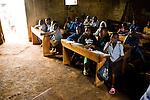 Children in classroom, Bigodi, western Uganda