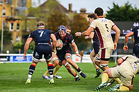 Matt Eliet of London Scottish in action during the Greene King IPA Championship match between London Scottish Football Club and Doncaster Knights at Richmond Athletic Ground, Richmond, United Kingdom on 30 September 2017. Photo by Jason Brown / PRiME Media Images.