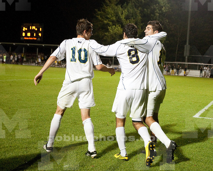 9/1/2010 Men's soccer home opener against Detroit Mercy. U-M won 2-1 in overtime.
