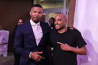 NOVA YORK, EUA, 23.04.2018 - TRIBECA-FESTIVAL - Ator Jamie Foxx e Jacques Morel durante o Festival de Cinema de Tribeca de 2018 - Tribeca Talks: Storytellers - no BMCC Tribeca PAC em Nova York nesta segunda-feira, 23. (Foto: William Volcov/Brazil Photo Press)