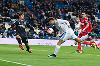 Real Madrid Marco Asensio and CD Numancia Munir Mohand during King's Cup match between Real Madrid and CD Numancia at Santiago Bernabeu Stadium in Madrid, Spain. January 10, 2018. (ALTERPHOTOS/Borja B.Hojas) /NortePhoto.com NORTEPHOTOMEXICO