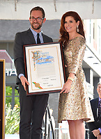Debra Messing &amp; Daniel Halden at the Hollywood Walk of Fame Star Ceremony honoring actress Debra Messing on Hollywood Boulevard, Los Angeles, USA 06 Oct. 2017<br /> Picture: Paul Smith/Featureflash/SilverHub 0208 004 5359 sales@silverhubmedia.com